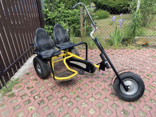 Gokard dwuosobowy rower na pedala Berg quad