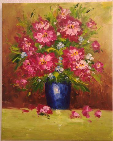 Obraz olejny 'kwiaty'