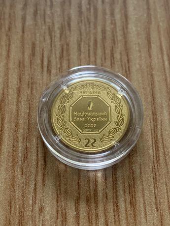 Золота монета 2 гривні Архістратиг Михаїл 3.11 2020 рік