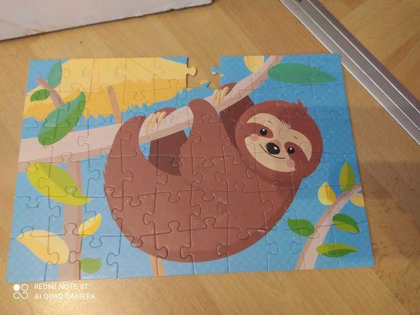 Puzzle kolorowe leniwiec