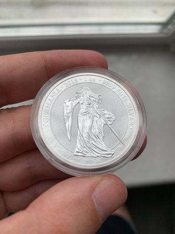 Раунд Германия 5 марок 2019 унция серебра