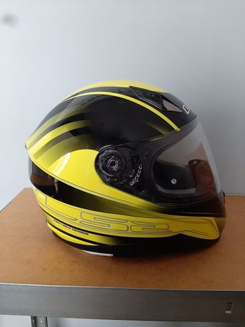 Kask LS2  FF 384 Iron HI-VIS Yellow Black roz. L