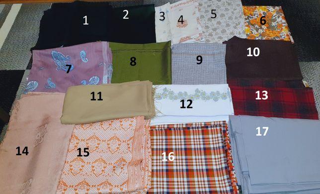 Materiały tkaniny różne kolekcja poszewka zasłony beż kratka gładkie