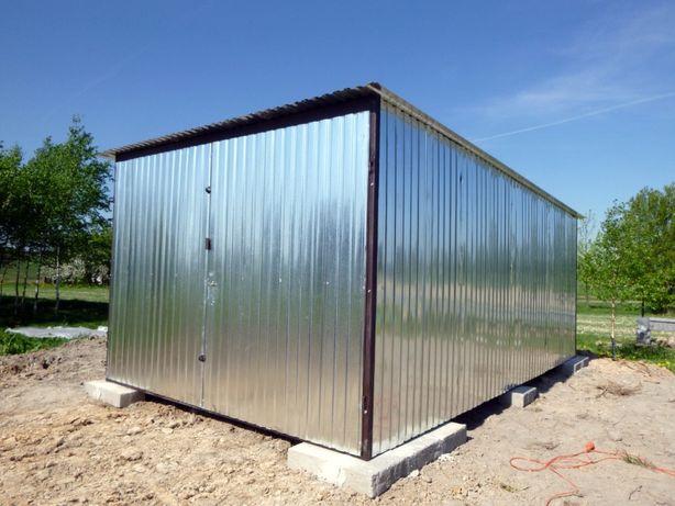 GARAŻ na budowę Blaszak Schowek budowlany Garaże blaszane PRODUCENT