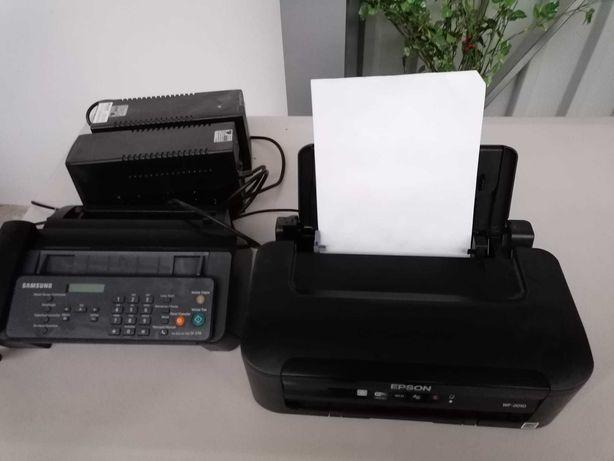 1 impressora, telefone fax e 1 ups estabilizador de corrente