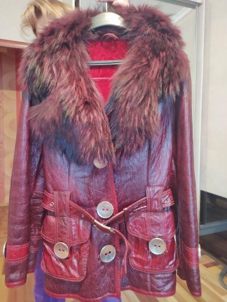 Натуральная дублёнка, куртка зимняя, размер 48-50