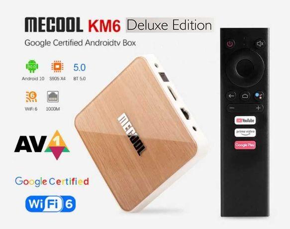 Mecool KM6 Deluxe  6900руб. Android TV 10 S905X4  Настроена