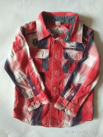 Jak nowa Koszula chłopięca 110 w kratkę FRENDZ długi rękaw jesień zima