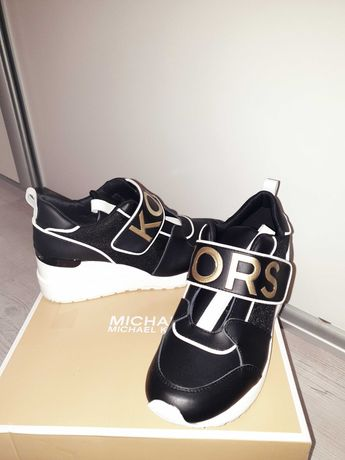 MK 36 Michael Kors wkl. 23cm nowe sneakersy koturn 5cm