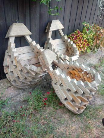 Drewniane Doniczki wiszące