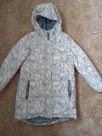 Теплое пальто 134-140 р
