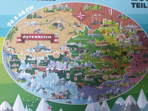PUZZLE NOWE mapa 205szt