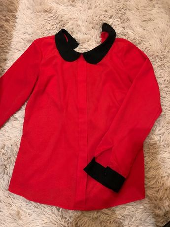 Czerwona koszula.