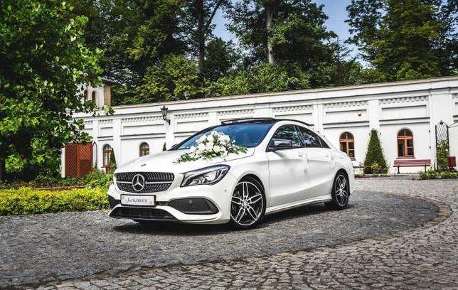 Auto Mercedes do ślubu ŚNIEŻNA BIEL