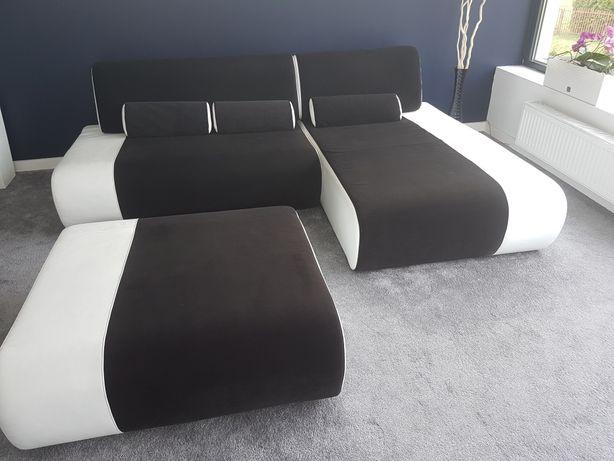 Kanapa sofa leżanka / szezlong + pufa / podnozek