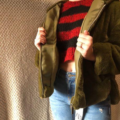 Верхняя одежда.ZARA.Шуба.Теплая зима. Искуственная меховая шубка