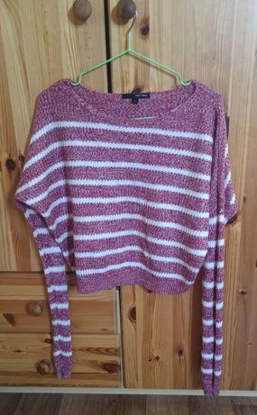 Полосатый укороченный свитер