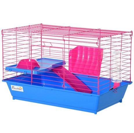 NOWA Klatka dla gryzoni chomika myszy różowa niebieska