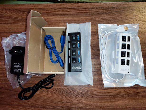 USB Hub 3.0 концентратор, хаб с дополнительным питанием