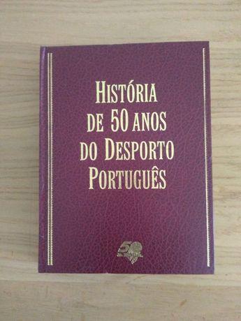 """Livro """"História de 50 anos do desporto Português"""""""