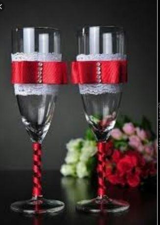 Весільні бокали оформлю на ваш смак