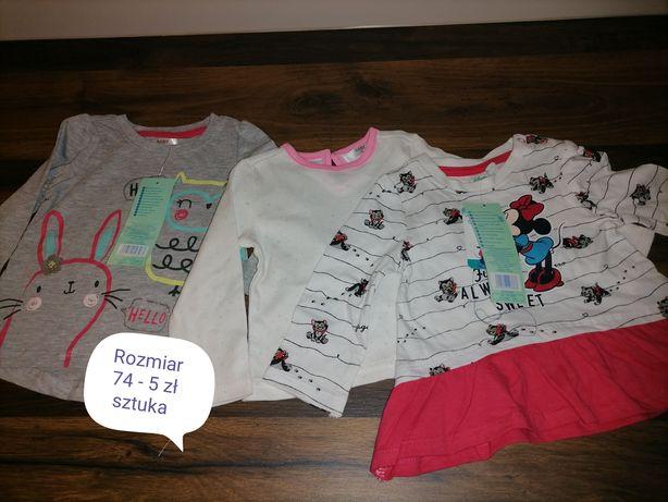 Różne ubranka dla dziewczynki