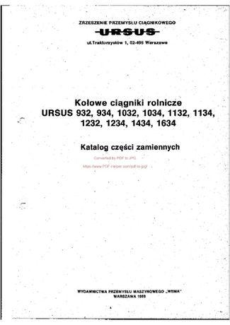 Katalog cz URSUS 932 do 1232