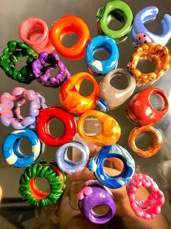 Кільце з полімерної глини,кольцо с полимерной глины,polymer clay ring