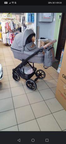Wózek bexa natural +grati przewijak, fotelik samochod