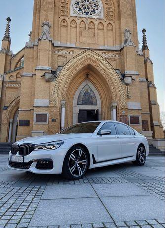Auto ślubne - BMW 7 wersja LONG + możliwość ubioru auta