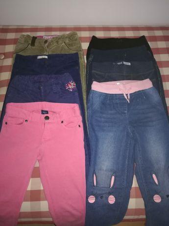 Spodnie dziewczęce 8 szt roz 110 GAP, CoolClub, Okadi, C&A, Next