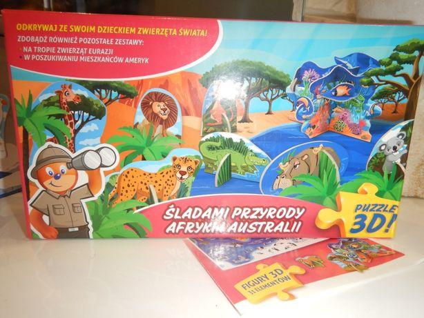 puzzle 3d śladami przyrody Afryki i Europy