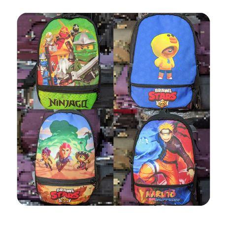 Детский рюкзак Brawl Stars, Among Us, Naruto,Ninjago