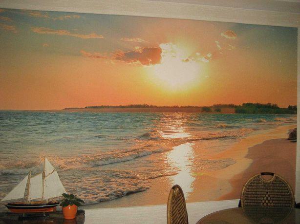 Фотообои жаккардовые текстурные /3D/ Рассвет на море /  300x180 см