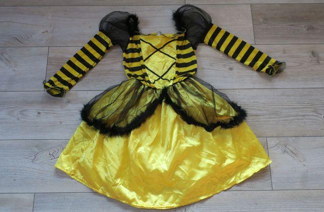 Strój karnawałowy pszczółka r 134-152, 9-12 l sukienka pszczoła