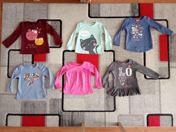 10 x Bluzeczka bluzka r.92 dla dziewczynki f. C&A, Cool Club