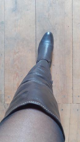 Сапоги (ботфорты)кожаные