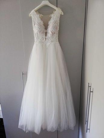 PIEKNA lekka suknia ślubna