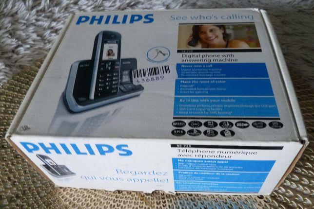 Telefon stacjonarny bezprzewodowy PHILIPS SE 735 - idealny dla VOIP