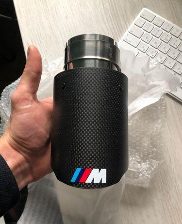 Насадка на выхло одиночка карбон BMW M бмв 335 535 435 F10 F30 E90 E60