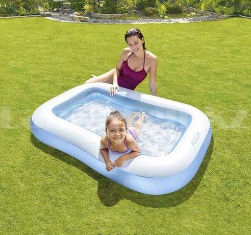 Басейн дитячий надувний, 166*100*28 intex бассейн детский надувной