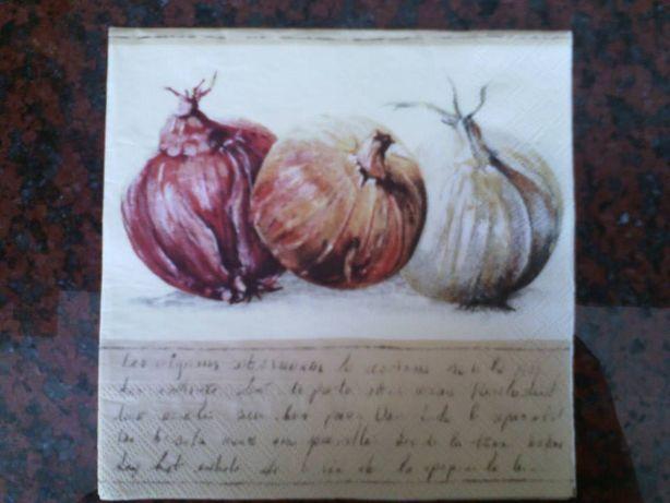 Quadro / Tela de Cozinha - Cebolas (feita à mão) - NOVA - Baratíssima