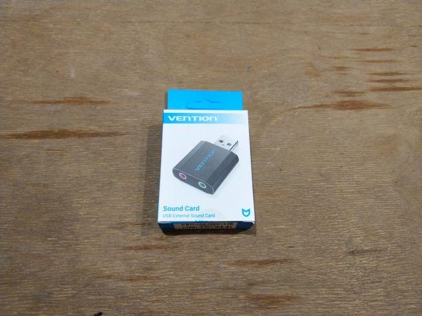 Vention VAB-S17 внешняя USB звуковая карта для наушников и микрофона