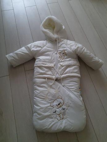 Куртка конверт  зимняя на овчине