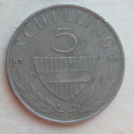 5 шиллингов 1974г Австрия