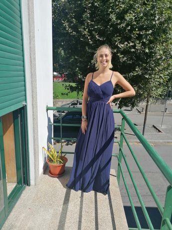 Vestido de cerimónia azulao