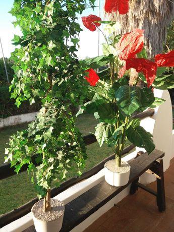 Floreiras em terracota/árvores decorativas 1,50m