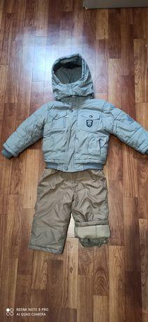 Зимний костюм зимняя куртка и комбинезон на мальчика
