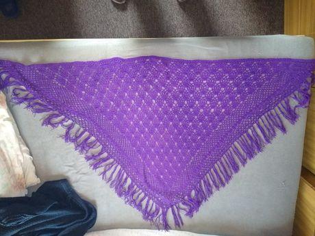 Okazja chusta ręcznie robiona na szydełku