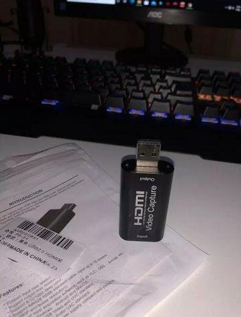 Карта видеозахвата HDMI USB 2.0 3.0 30 60 fps для стрима obs YouTube
